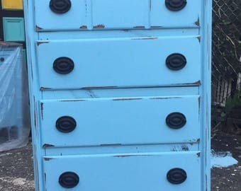 1950's French cottage solid wood Dresser