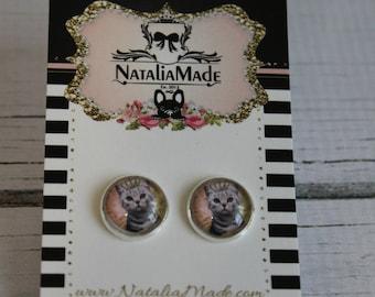 Crowned Kitty Earrings