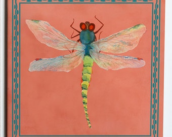 Pair of DragonflyCoasters  4.25x4.25