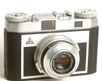 Retro Rangefinder Tower 35mm Film Camera, Vintage Rangefinder, Vintage Tower Camera C1084