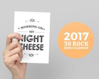 2017 30 Rock Desk Calendar, Parks and Rec Calendar, Monthly Calendar, Liz Lemon, Quote Calendar, Night Cheese, Monthly Calendar, Quotes