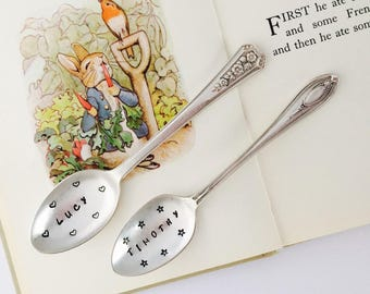 Personalised Baby Gift. Christening Gift, New Baby Naming Spoon, Baby Shower Gift, Children's Personalised Cutlery, Baptism Gift,