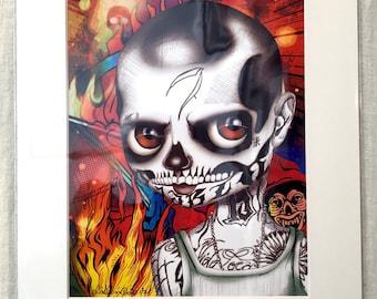 "Diablo (Suicide Squad - Jay Hernandez) 11x14"" Art Print by deShan"