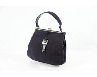1950s Vintage blue purse
