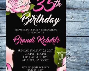 Custom Birthday Party Invitation - 5X7 - Birthday Invitation - Printed Invitation - Custom Invitation - Single Sided