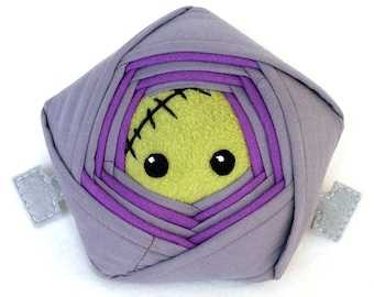 Frankenstein Star Plush– Upcycled Fabric Limited Edition Halloween Frankenstein's Monster Star Plush