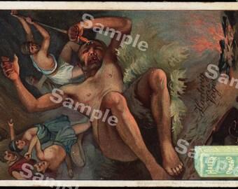 Original antique Victorian Trade card Odysseus