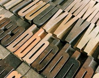 1 5/8 Inch / Pick Your Letters / Vintage Letterpress / Antique Letterpress / Printer Block Letter / Wood Type / Wood Letters / Vintage Type