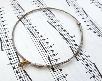 Guitar string bracelet Size XS, guitarist, guitar player, cool music rock jewellery