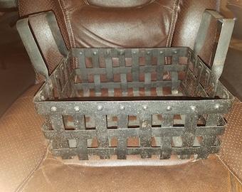 Cast Iron Basket W/Handles