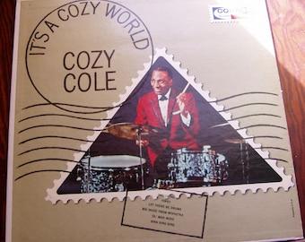 Cozy Cole, It's A Cozy World, 1964, LP Record Album, Coral Records