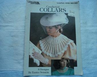Leisure Arts Crocheted Collars Leaflet 446 6 Designs by Eunice Svinicki
