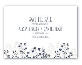 Printable Save the Date | Save the Date | Wedding | Invitation Suite | In the Garden Suite