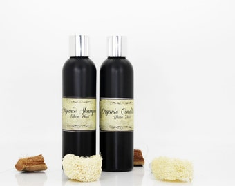 "Organic shampoo&conditioner ""More Hair!"", organic shampoo, organic conditioner, shampoo and conditioner set, restoring shampoo"
