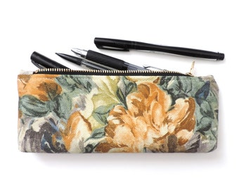 Pencil Case Zipper Pencil Pouch Painted Floral