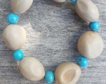 Nickernut and acai seed bracelet