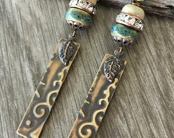 Woodland Scroll Pendant Earrings