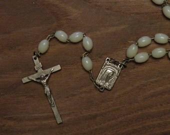 Vintage rosary glow in the dark