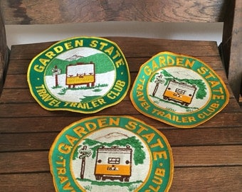 Set of 3 Large Camping Patches - Garden State Travel Trailer Club