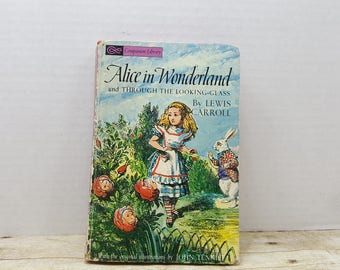 Alice in Wonderland, Companion Library,  Lewis Carroll, Through the looking glass, 1963, vintage kids book