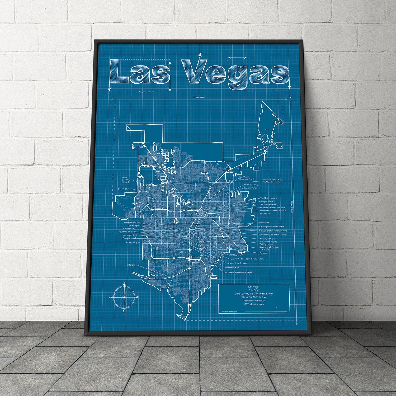 Las Vegas Metropolitan Area: Las Vegas Metro Area Map / Las Vegas Map /Original Artwork