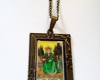 Tarot card necklace