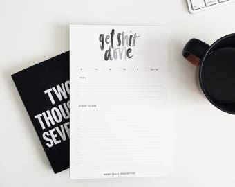 Get Shit Done/ To-Do List Notepad