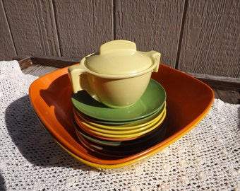 Vintage Melmac Dish Set/Sun Valley/Ornamin/Meladur by Lapcor/Kitchen and Dining/Home and Living/Dining and Serving/Mid Century