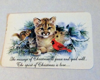 Vintage Christmas Postcards, Set of 9, Unused