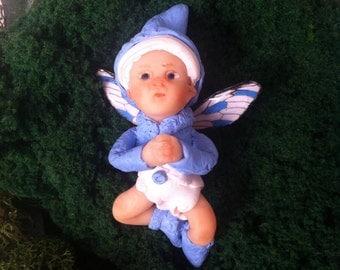 Miniature Handmade OOAK Fairy Baby - Blue
