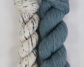 Hand-dyed yarn - sock yarn - superwash - merino - dyed-to-order - bundle SUPER CHAUSSETTE JEANNETTE