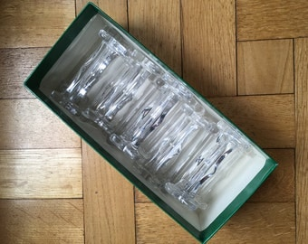 Lot of 12 glass knife rests