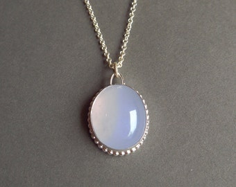 Violet Chalcedony Pendant - with or without necklace - ready to ship