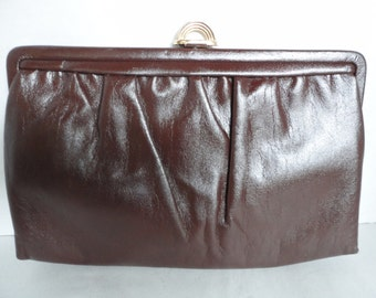Vintage Brown Leather Purse