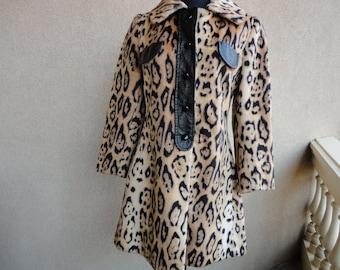 Vintage Animal Print Coat