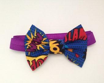 Super Hero Handmade Fabric Bow Tie