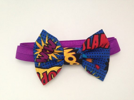 Super Hero Handmade Fabric Bow Tie