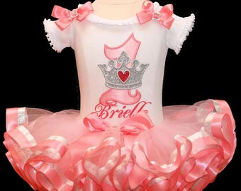 1st Birthday girl outfit, 1st birthday outfit girl, baby birthday outfit, cake smash outfit,1st birthday girl outfit, princess birthday tutu
