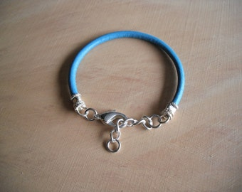 Turquoise Bracelet/ Leather Bracelet/ Adjustable Leather Bracelet
