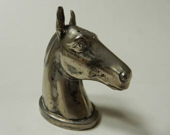 Horse Head Sterling Salt Shaker