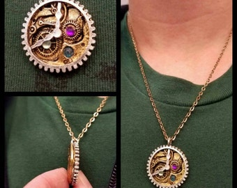 The Inner Workings Of A Clock Necklace