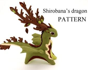 Pattern dragon soft toy felt