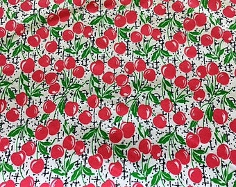 RED CHERRY FLANNEL Fabric