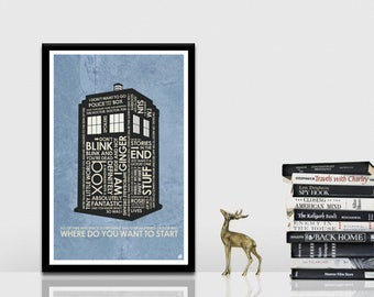 Dr. Who - Tardis Quote Poster