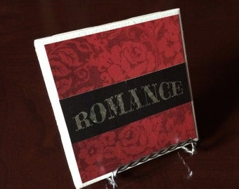 Cardstock Tile Coaster(romance-red))