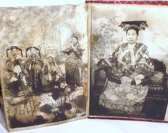 A rare collection of photographs depicting Empress of China and her court