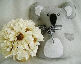 Koala Bear, Stuffed Koala Bear Animal, Stuffed Koala Bear, Felt Koala Bear Toy, Baby Gift