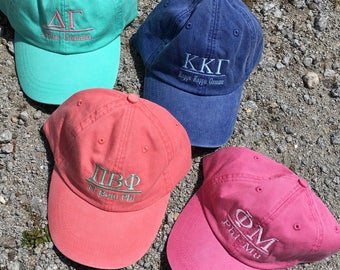 Baseball Hat {Sorority} 1 Line Design