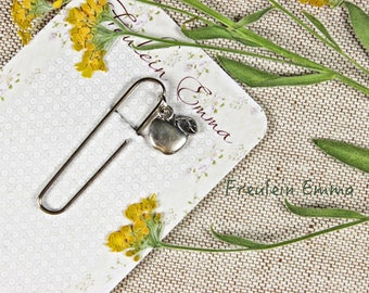 paperclip Apple silver vintage style paper clip bookmark