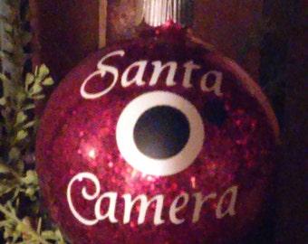Santa Camera Ornaments